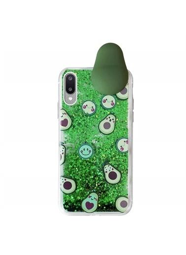 Microsonic Samsung Galaxy A02 Kılıf Cute Cartoon Avakado Yeşil